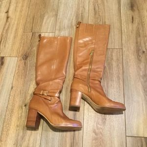 Micheal Kors Tan Leather Boots - 8.5